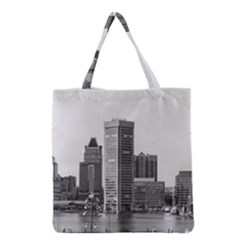 Architecture City Skyscraper Grocery Tote Bag
