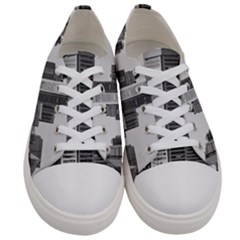 Architecture City Skyscraper Women s Low Top Canvas Sneakers