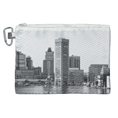 Architecture City Skyscraper Canvas Cosmetic Bag (xl) by Simbadda