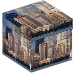 New York Skyline Manhattan Hudson Storage Stool 12