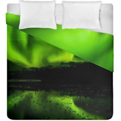 Aurora Borealis Northern Lights Sky Duvet Cover Double Side (king Size)