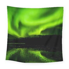 Aurora Borealis Northern Lights Sky Square Tapestry (large)