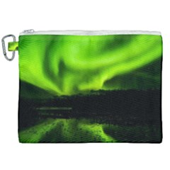 Aurora Borealis Northern Lights Sky Canvas Cosmetic Bag (xxl) by Simbadda