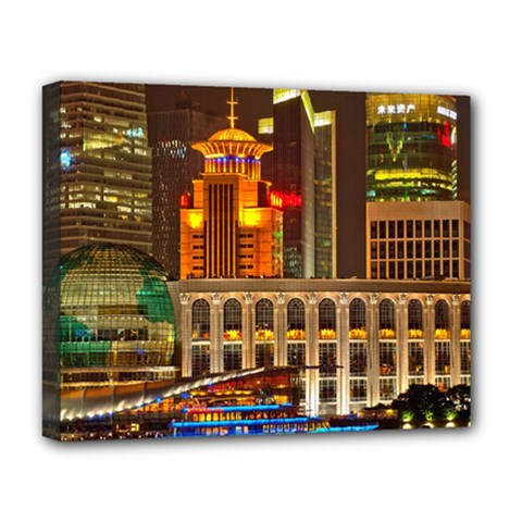 Shanghai Skyline Architecture Deluxe Canvas 20  X 16