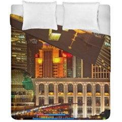 Shanghai Skyline Architecture Duvet Cover Double Side (california King Size)