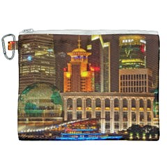 Shanghai Skyline Architecture Canvas Cosmetic Bag (xxl) by Simbadda