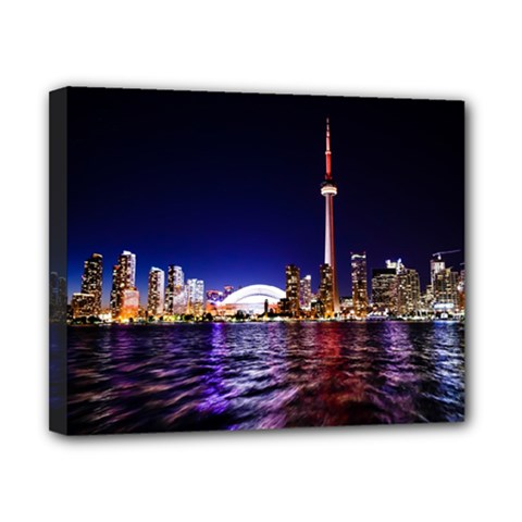 Toronto City Cn Tower Skydome Canvas 10  x 8