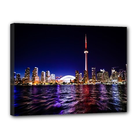 Toronto City Cn Tower Skydome Canvas 16  x 12