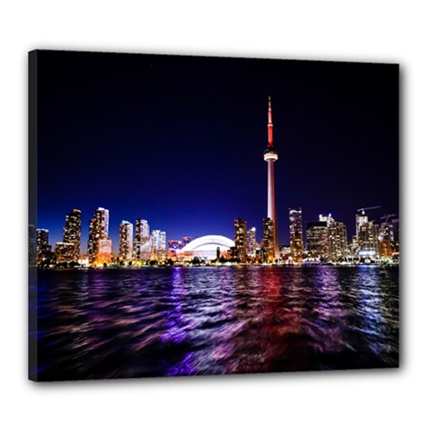 Toronto City Cn Tower Skydome Canvas 24  x 20