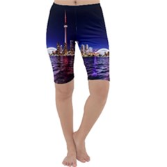Toronto City Cn Tower Skydome Cropped Leggings