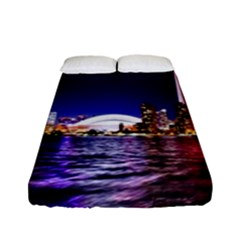 Toronto City Cn Tower Skydome Fitted Sheet (Full/ Double Size)