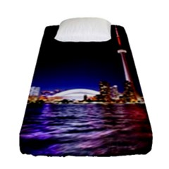 Toronto City Cn Tower Skydome Fitted Sheet (Single Size)