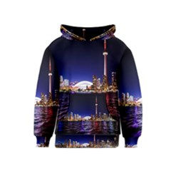 Toronto City Cn Tower Skydome Kids  Pullover Hoodie