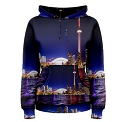 Toronto City Cn Tower Skydome Women s Pullover Hoodie