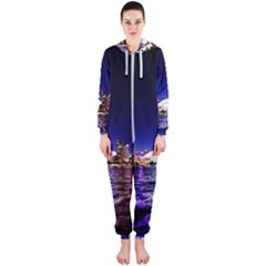 Toronto City Cn Tower Skydome Hooded Jumpsuit (ladies)  by Simbadda