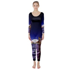 Toronto City Cn Tower Skydome Long Sleeve Catsuit