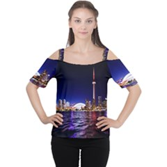 Toronto City Cn Tower Skydome Cutout Shoulder Tee