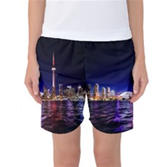 Toronto City Cn Tower Skydome Women s Basketball Shorts