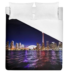 Toronto City Cn Tower Skydome Duvet Cover (Queen Size)