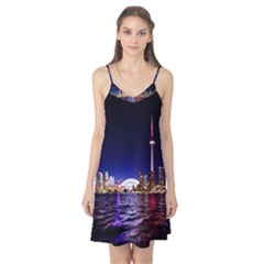 Toronto City Cn Tower Skydome Camis Nightgown
