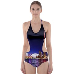 Toronto City Cn Tower Skydome Cut-Out One Piece Swimsuit