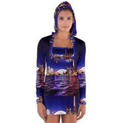 Toronto City Cn Tower Skydome Long Sleeve Hooded T-shirt