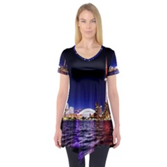 Toronto City Cn Tower Skydome Short Sleeve Tunic