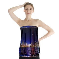 Toronto City Cn Tower Skydome Strapless Top