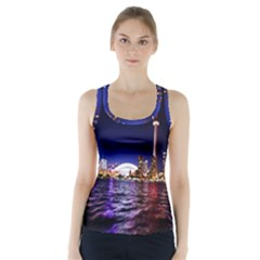 Toronto City Cn Tower Skydome Racer Back Sports Top