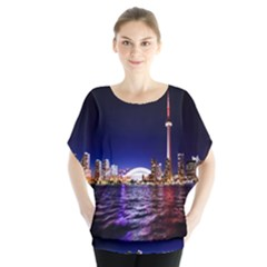 Toronto City Cn Tower Skydome Blouse