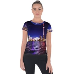 Toronto City Cn Tower Skydome Short Sleeve Sports Top