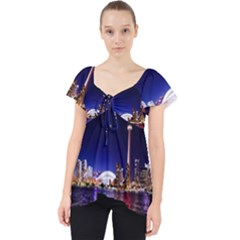 Toronto City Cn Tower Skydome Lace Front Dolly Top