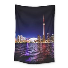 Toronto City Cn Tower Skydome Small Tapestry