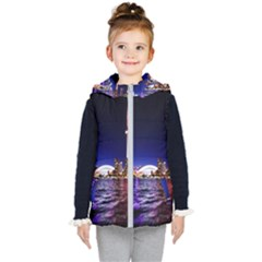 Toronto City Cn Tower Skydome Kid s Hooded Puffer Vest