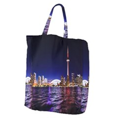 Toronto City Cn Tower Skydome Giant Grocery Zipper Tote