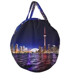 Toronto City Cn Tower Skydome Giant Round Zipper Tote