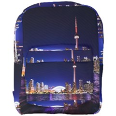 Toronto City Cn Tower Skydome Full Print Backpack