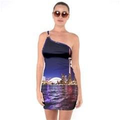 Toronto City Cn Tower Skydome One Soulder Bodycon Dress