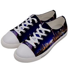 Toronto City Cn Tower Skydome Women s Low Top Canvas Sneakers