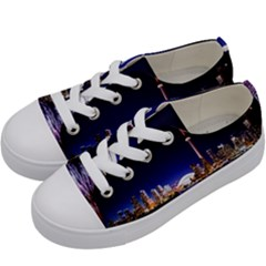 Toronto City Cn Tower Skydome Kids  Low Top Canvas Sneakers