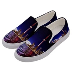 Toronto City Cn Tower Skydome Men s Canvas Slip Ons