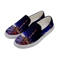 Toronto City Cn Tower Skydome Women s Canvas Slip Ons