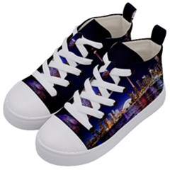 Toronto City Cn Tower Skydome Kid s Mid-Top Canvas Sneakers