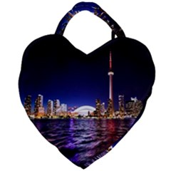 Toronto City Cn Tower Skydome Giant Heart Shaped Tote