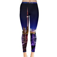 Toronto City Cn Tower Skydome Inside Out Leggings