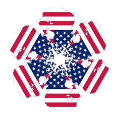 Flag Map Of Canada And United States (american Flag) Mini Folding Umbrellas by goodart