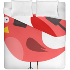 Pirate Bird Vector Clipart Duvet Cover Double Side (king Size)