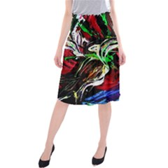 Lillies In Terracota Vase Midi Beach Skirt