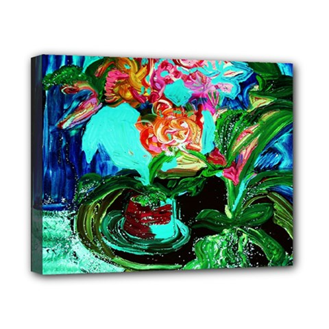 Flowers On The Tea Table Canvas 10  X 8  by bestdesignintheworld