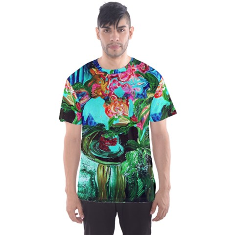 Flowers On The Tea Table Men s Sports Mesh Tee by bestdesignintheworld